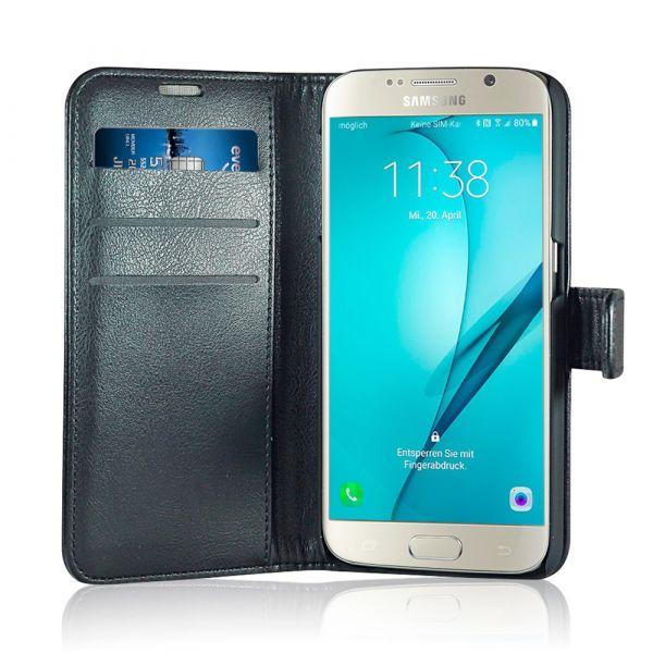 Fashion - Samsung S6 - vegan leather - 86% protection - black