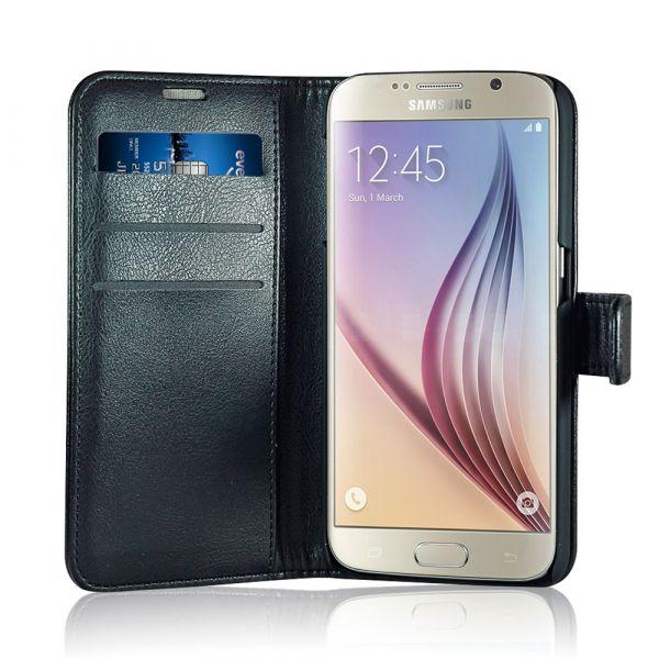Fashion - Samsung S7 - vegan leather - 86% protection - black