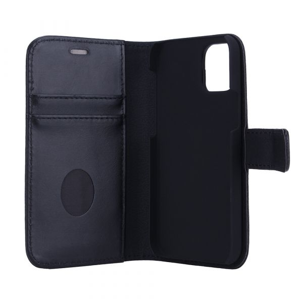 Exclusive 2-in-1 - iPhone 12 MINI - full grain leather - 86% protection - black