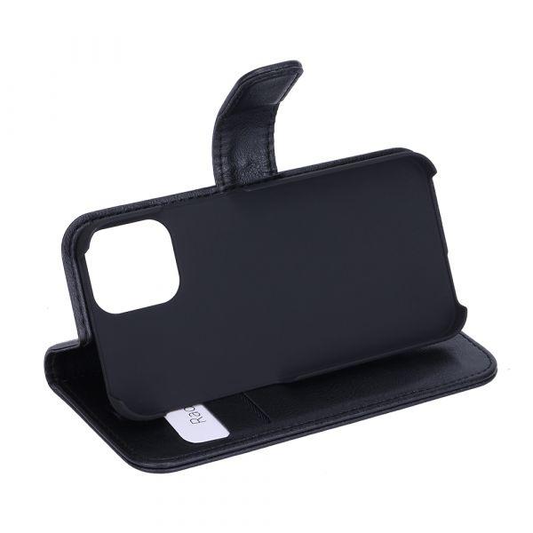 Fashion - iPhone 12 MINI - vegan leather - 86% protection - black