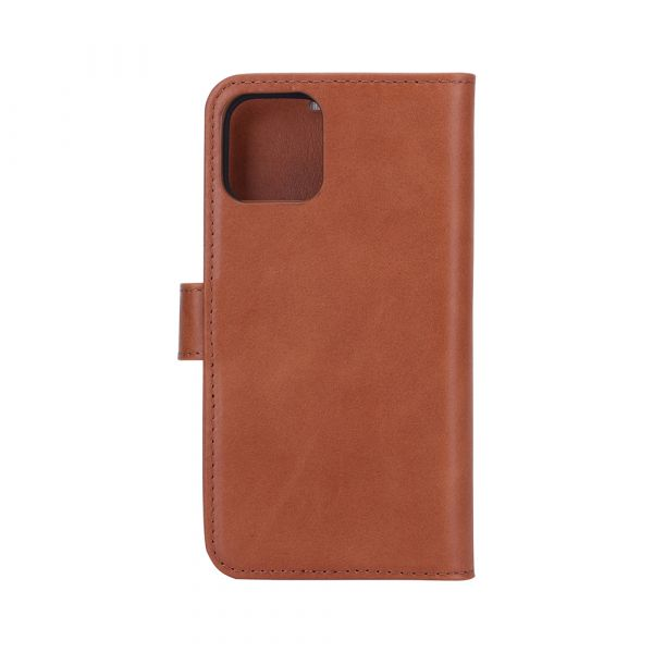 Exclusive 2-in-1 - iPhone 12/12 PRO - genuine leather - 86% protection - brown