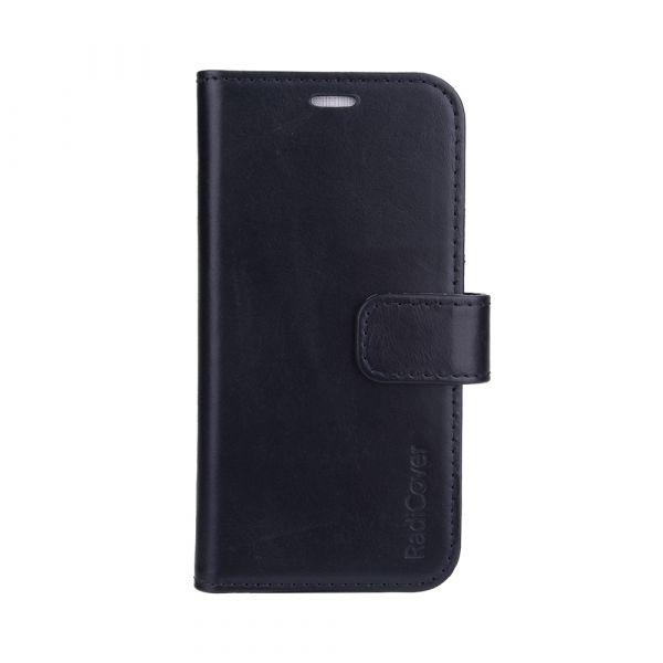 Exclusive 2-in-1 - iPhone 13 PRO - full grain leather - 86% protection - black