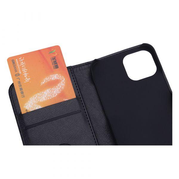 Fashion - iPhone 13 MINI - vegan leather - 86% protection - black