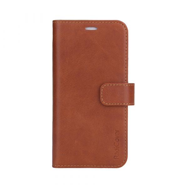 Exclusive 2-in-1 - iPhone 13 - genuine leather - 86% protection - brown