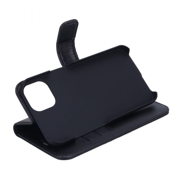 Fashion - iPhone 13 - vegan leather - 86% protection - black