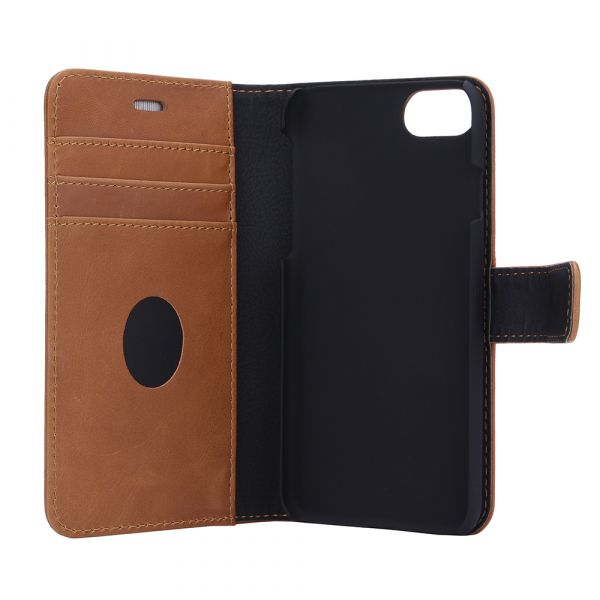 Exclusive 2-in-1 - iPhone 6/7/8/SE2020 - genuine leather - 86% protection - brown